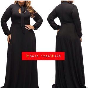 Dresses & Skirts - ‼️SALE NWOT Women's Vintage Black Long Dress